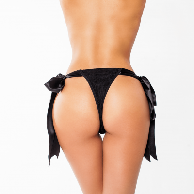 Dominatrix Pleasure Thong Black