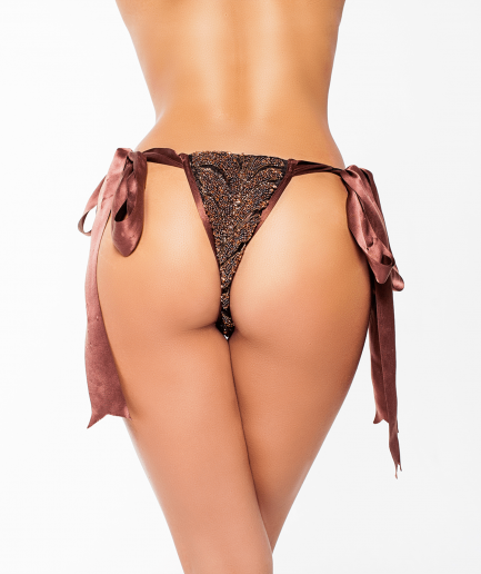 Dominatrix Pleasure Thong Bronze