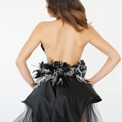 The Black Boudoir Ballgown
